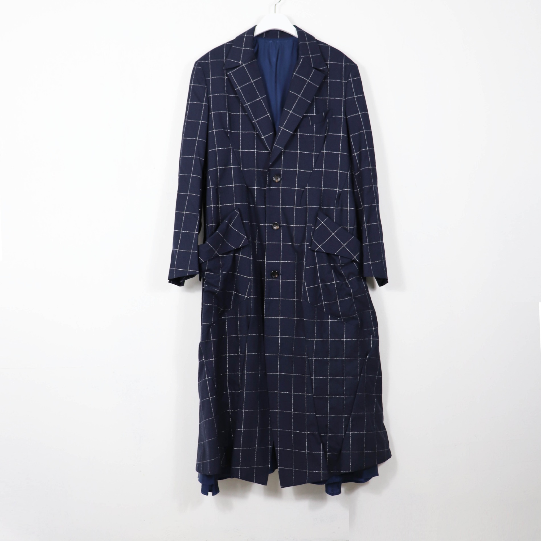 AW20 SULVAM DARTS LONG COAT NAVY
