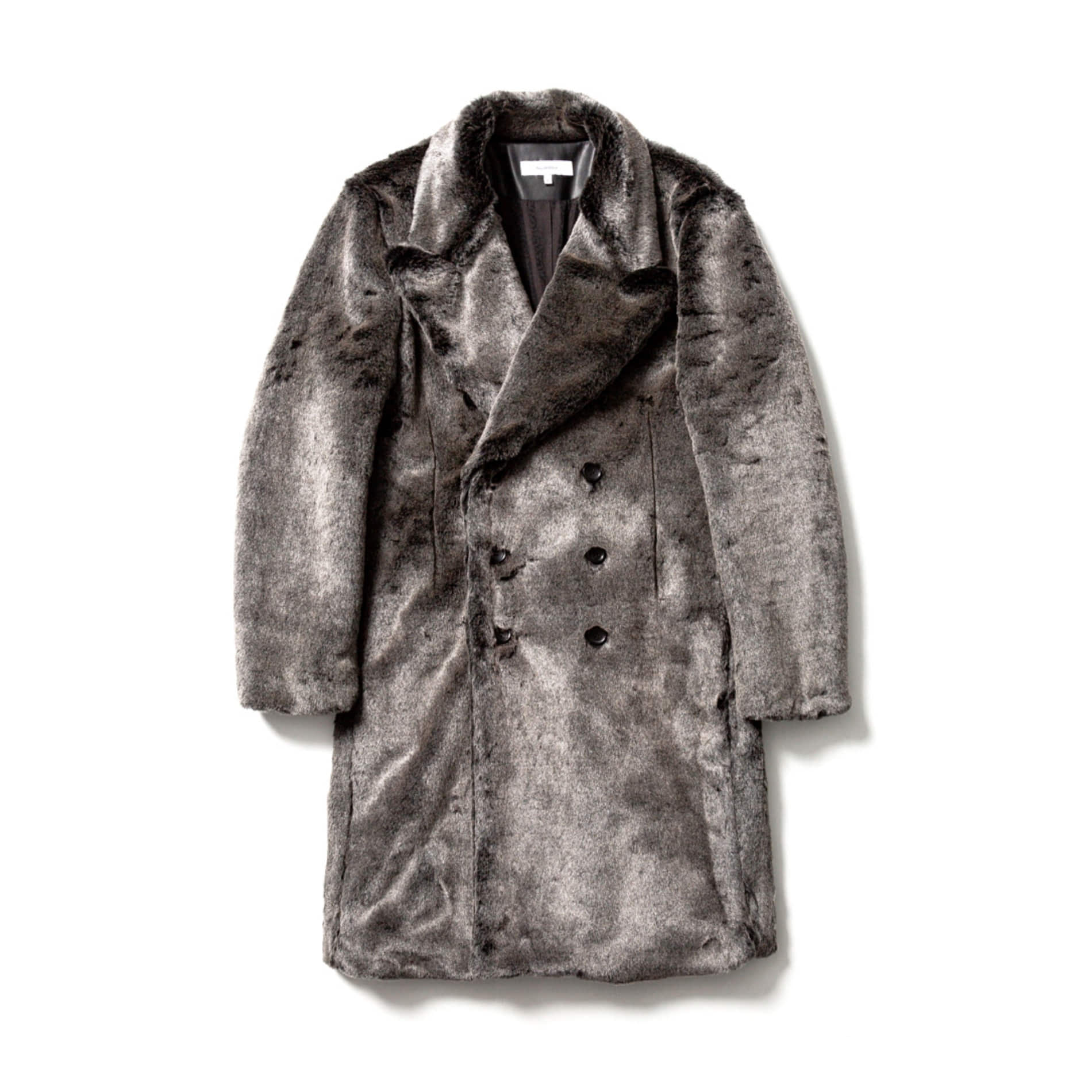 AW20 SASQUATCHFABRIX FAKE FUR COAT SILVER