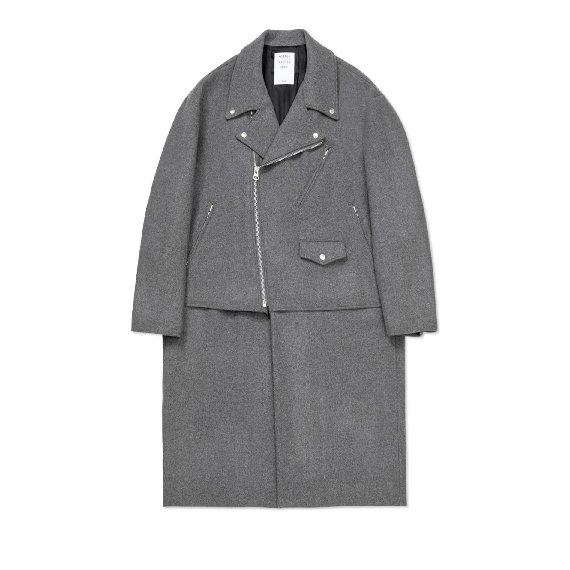 AW20 MISTER GENTLEMAN RIDERS FRONT COAT GREY
