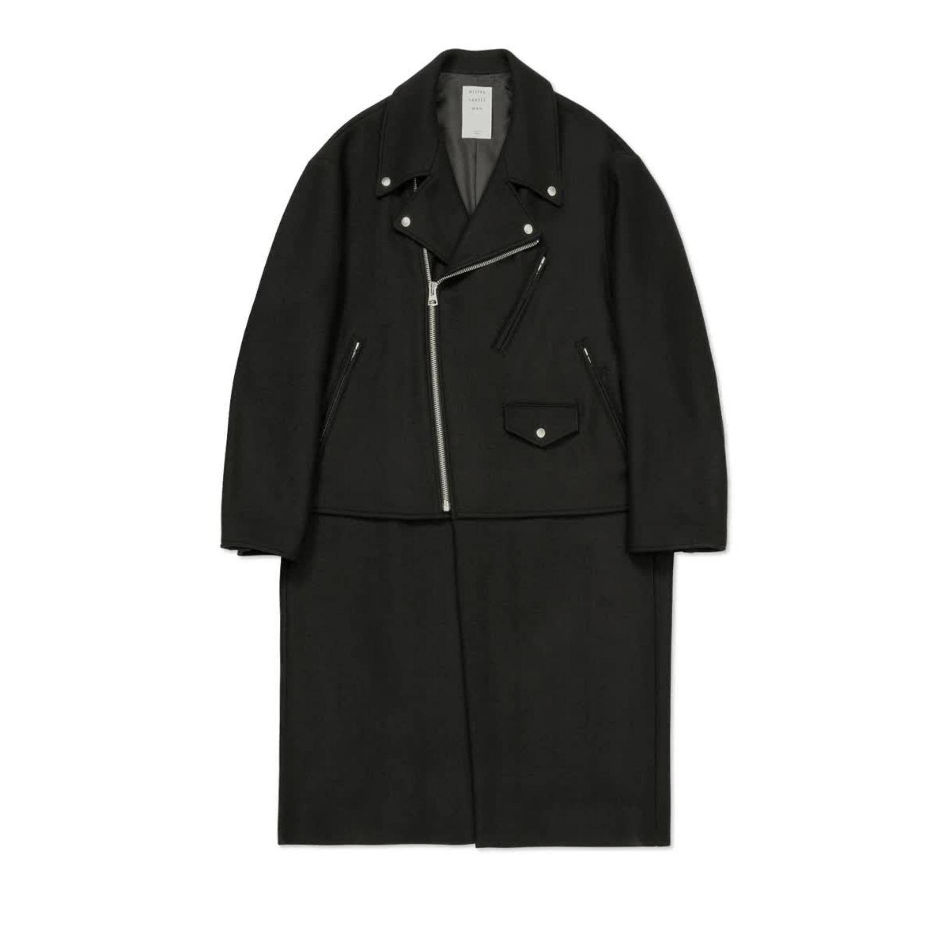 AW20 MISTER GENTLEMAN RIDERS FRONT COAT BLACK